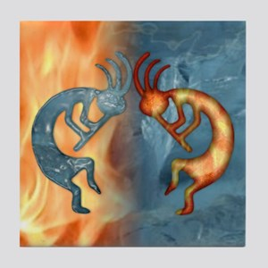 Kokopelli Fire & Ice (NEW) Tile Coaster