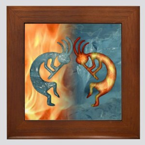 Kokopelli Fire & Ice (NEW) Framed Tile