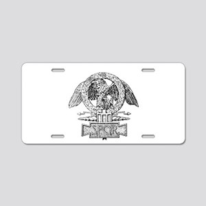 CANE SPQR Eagle Aluminum License Plate