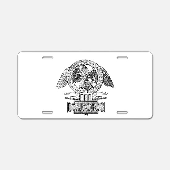 CANE SPQR Eagle Aluminum License Plate