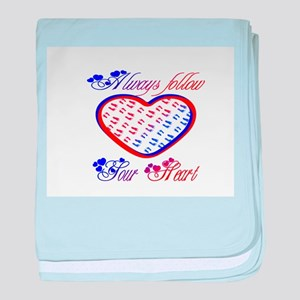 Follow your heart baby blanket