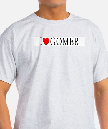 I Love Gomer Ash Grey T-Shirt