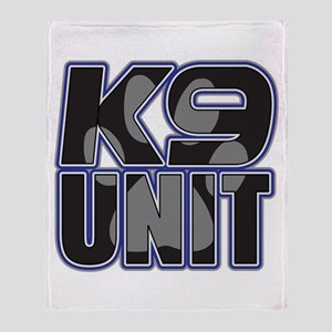 Police K9 Unit Paw Throw Blanket
