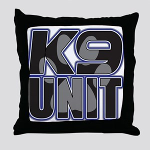 Police K9 Unit Paw Throw Pillow