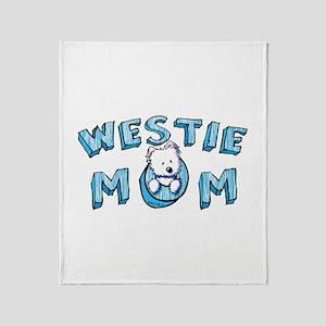 KiniArt Westie Mom Throw Blanket