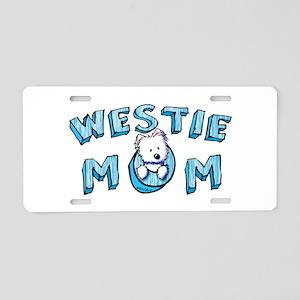 KiniArt Westie Mom Aluminum License Plate