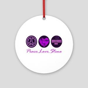 PEACE LOVE STENO Ornament (Round)