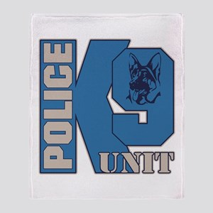 Police K9 Unit Dog Throw Blanket