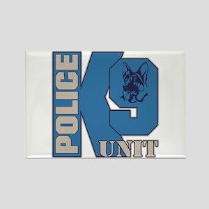 Police K9 Unit Dog Rectangle Magnet
