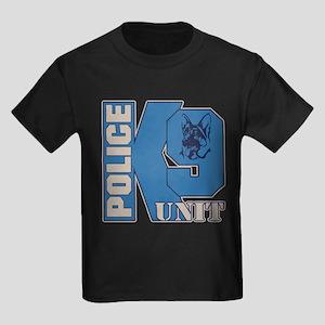 Police K9 Unit Dog Kids Dark T-Shirt