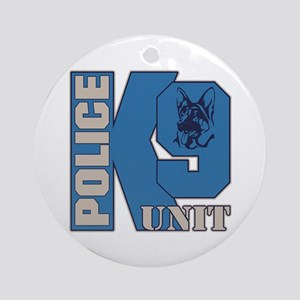 Police K9 Unit Dog Ornament (Round)
