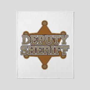 Deputy Sheriff Throw Blanket