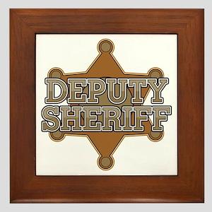 Deputy Sheriff Framed Tile
