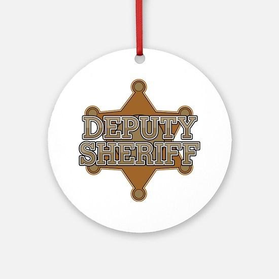Deputy Sheriff Ornament (Round)