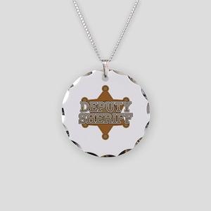 Deputy Sheriff Necklace Circle Charm