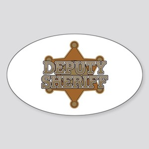 Deputy Sheriff Sticker (Oval)