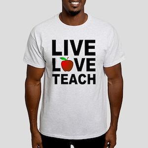 Live Love Teach Apple Light T-Shirt