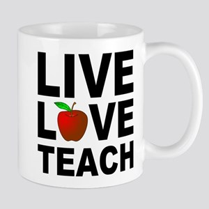 Live Love Teach Apple Mug