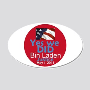 Bin Laden 22x14 Oval Wall Peel