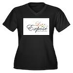 laExpose' Women's Plus Size V-Neck Dark T-Shirt