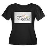laExpose' Women's Plus Size Scoop Neck Dark T-Shir