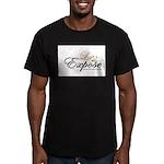laExpose' Men's Fitted T-Shirt (dark)