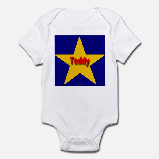 Teddy Star Monogram Infant Creeper