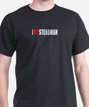 I Love Steadman Black T-Shirt