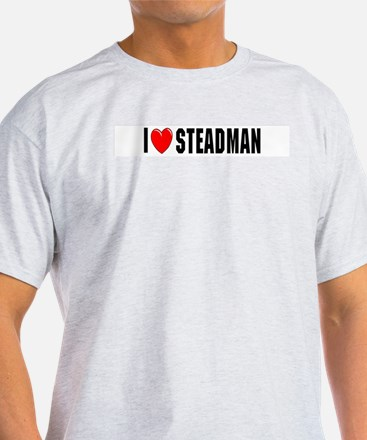 I Love Steadman Ash Grey T-Shirt