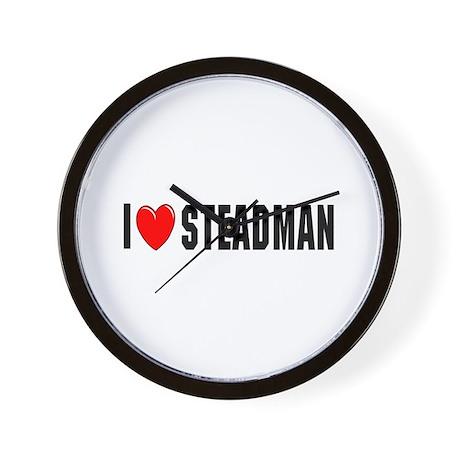 I Love Steadman Wall Clock