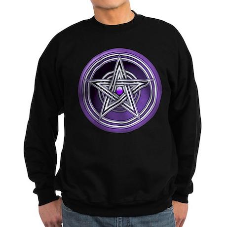 Purple Pentacle w/inlay Sweatshirt (dark)