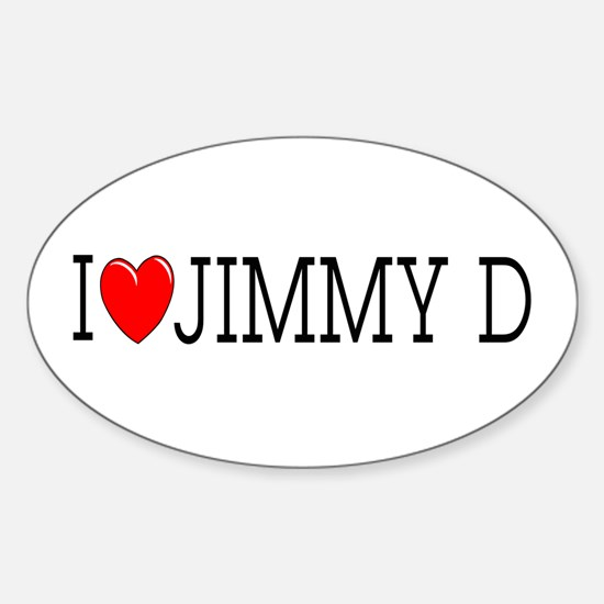 I Love Jimmy D Oval Decal