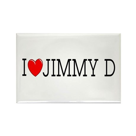 I Love Jimmy D Rectangle Magnet