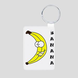 banana Aluminum Photo Keychain