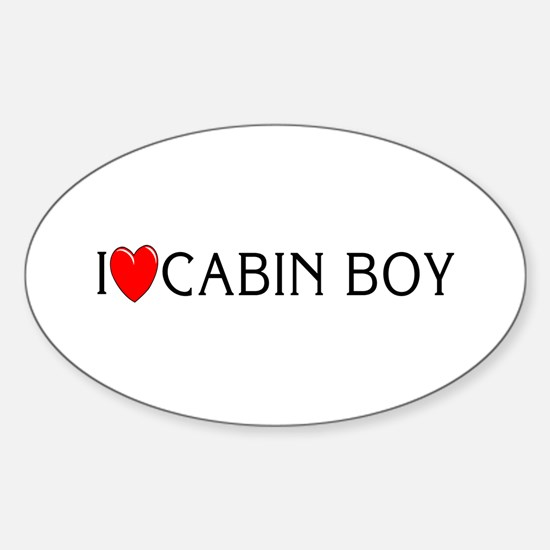 I Love Cabin Boy Oval Decal