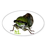 Cicada hi. Sticker (Oval 50 pk)