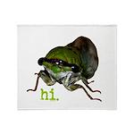 Cicada hi. Throw Blanket