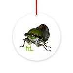 Cicada hi. Ornament (Round)