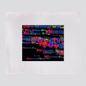 Flying Schwa Throw Blanket