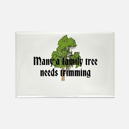 Trimming Family Tree Rectangle Magnet