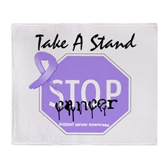Stop General Cancer Throw Blanket