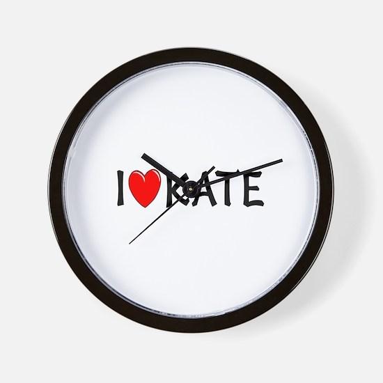 I Love Kate Wall Clock