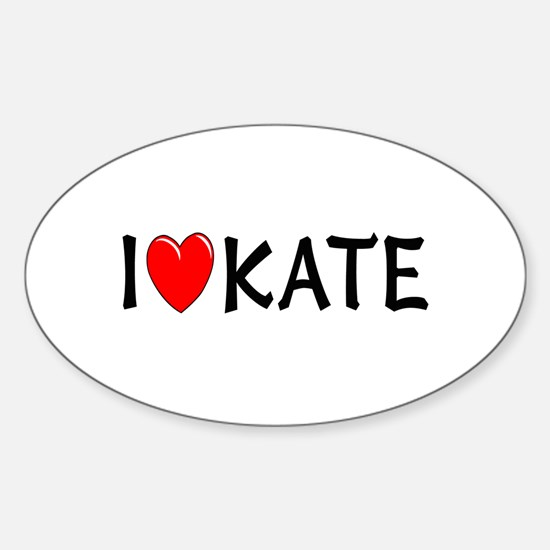 I Love Kate Oval Decal