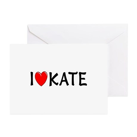 I Love Kate Greeting Cards (Pk of 10)