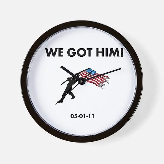 We Got Him Wall Clock