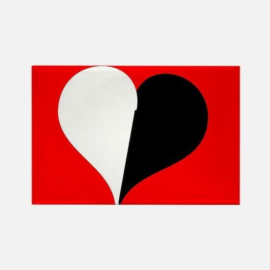 Blended Heart Rectangle Magnet