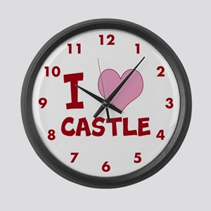 I Heart Castle Large Wall Clock