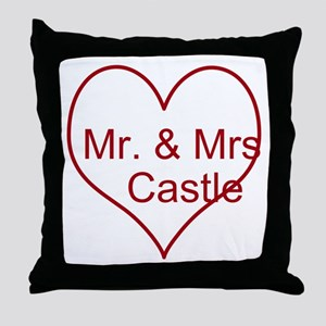 Mr. and Mrs. Castle Throw Pillow