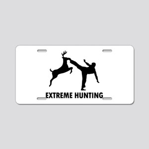 Extrema Hunting Deer Karate Kick Aluminum License