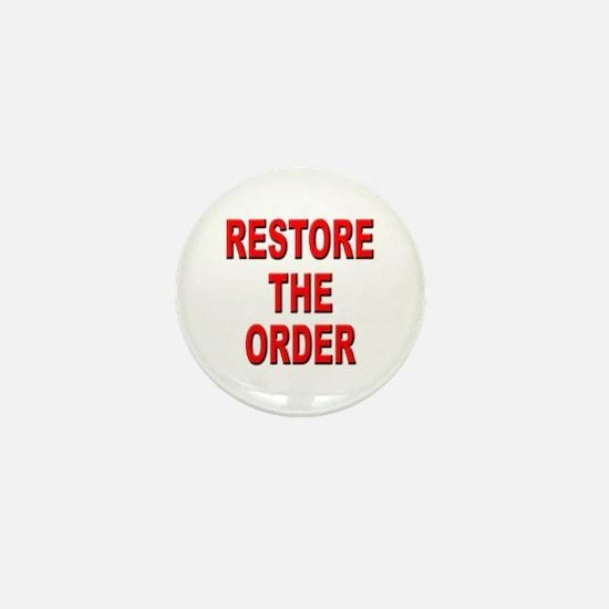 Nebraska Restore the Order Mini Button